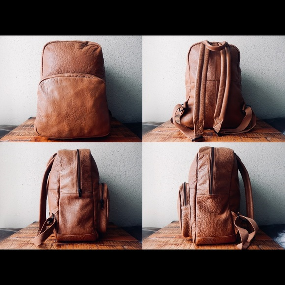 f3fbc2c3b Urban Outfitters Bags | Bdg Classic Genuine Leather Backpack Brown ...